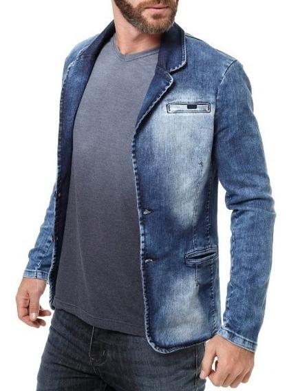 Jaqueta Jeans Slim Fit - Casaco - Blazer - Frete Grátis