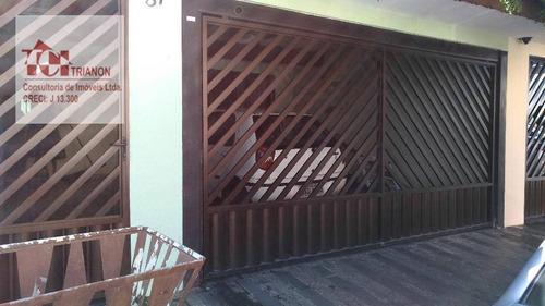 Sobrado Com 3 Dormitórios À Venda, 160 M² Por R$ 520.000,00 - Casa Branca - Santo André/sp - So0247