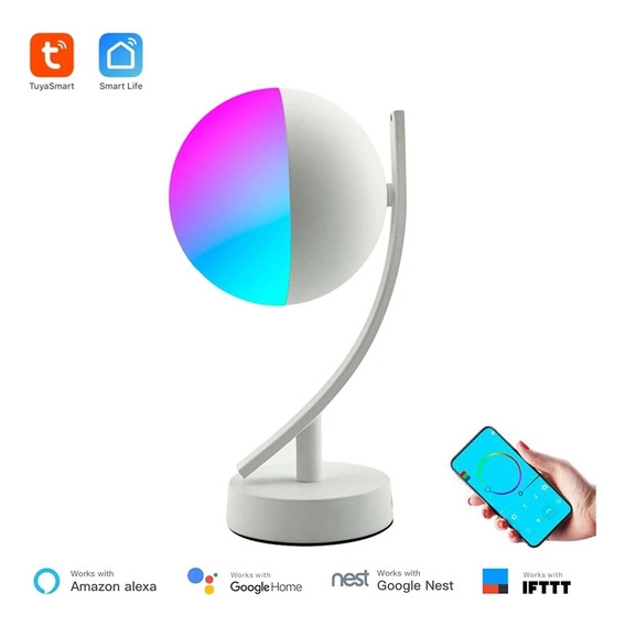 Abajur Smart Wi-fi Rgb 7w Iwoole Lamp Google Home E Alexa