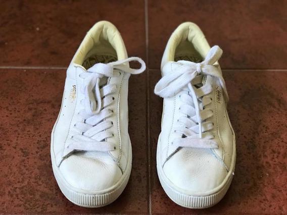 Zapatillas Puma Básquet Hombre T.45 Impecables!!! Blancas