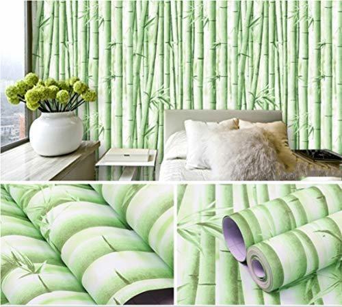 Papel De Contacto De Bambu Verde Revestimiento De Estante A