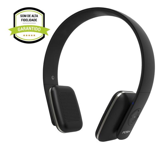 Headphone Fone De Ouvido Bluetooth Celular Posh Urban Bk