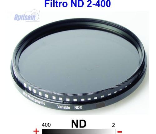 Filtro Nd Densidade Variavel 2-400 Medida 58mm Temos Loja