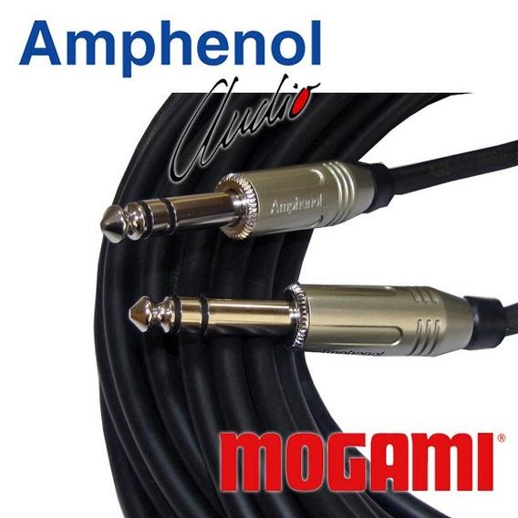 Cabo De Áudio Balanceado P10 Stéreo 5m Mogami Amphenol 2 Pçs