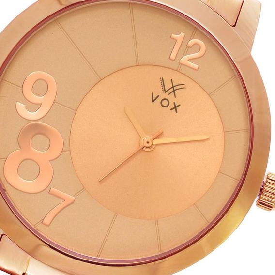 Relogio Feminino Vox New Jersey Caixa Metal Dourado Vx145rrr
