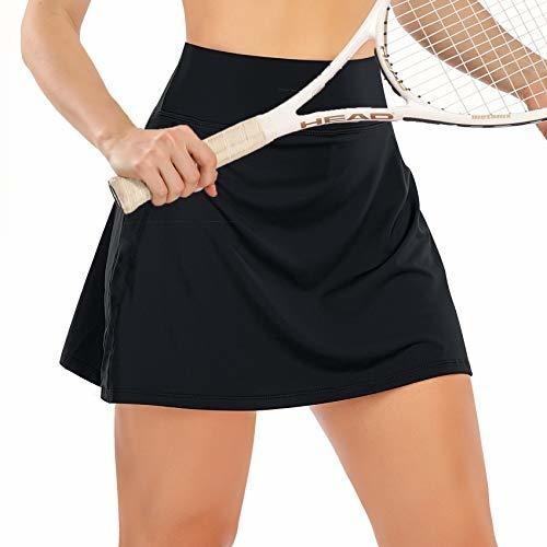 Colisha Falda de tenis activa de secado r/ápido con falda para mujer bolsillo de cintura alta minifaldas pantalones cortos de yoga vestido de entrenamiento deportivo