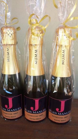 Souvenir Champagne Mumm 187 Ml Personalizado 35 Unidades