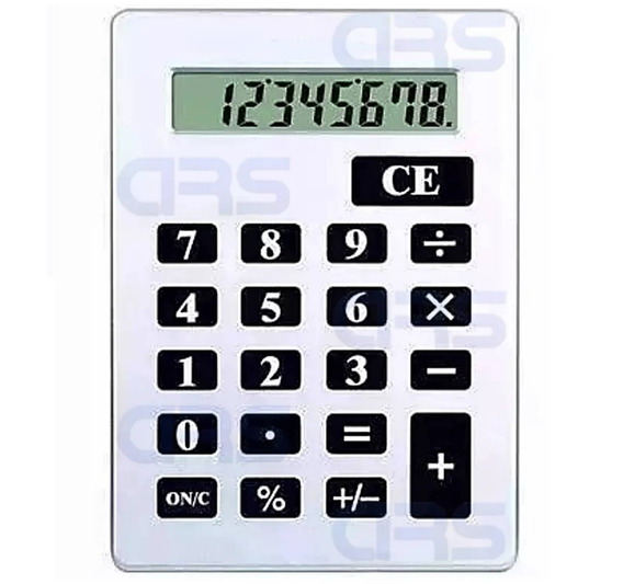 Calculadora Gigante De Mesa C/ Números Grandes 8 Digitos