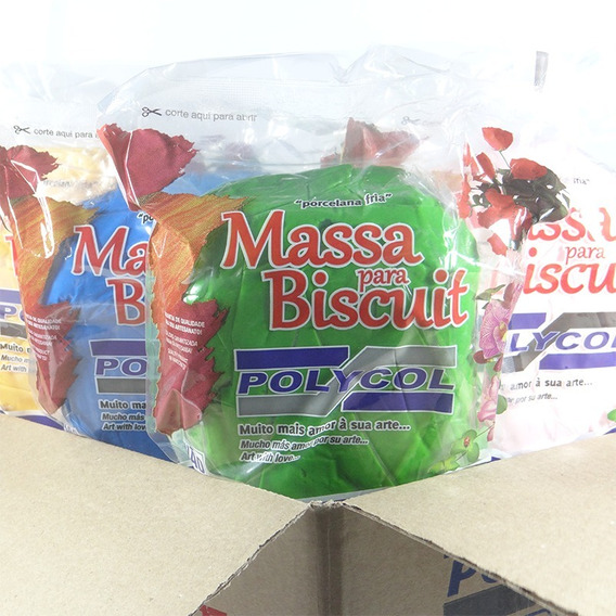 Caixa De Massa De Biscuit Colorida Polycol - 5 Kg