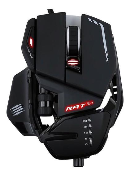 Mouse Gamer Madcatz R.a.t 6+ Rgb 11 Botões 12000dpi Rat6+