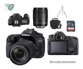 Canon Eos 80d Lente 18-135mm Nano Usm + Bolsa+tripé+32gb C10