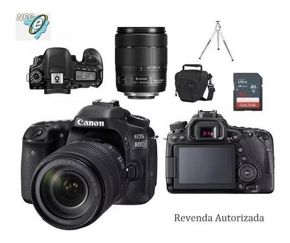 Canon Eos 80d 18-135mm Is Nano Usm + Bolsa+tripé+32gb Nota Fiscal