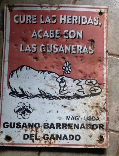 Imagen 1 de 1 de Rótulo Coleccionable De Costa Rica Antiguo Gusano Barrenador