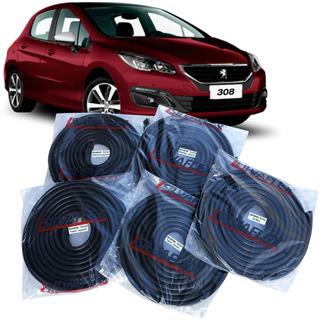 Burletes Para 4 Puertas + Baul Peugeot 308 5 Ptas (kit 5 Unidades) +regalo! Silvaflex