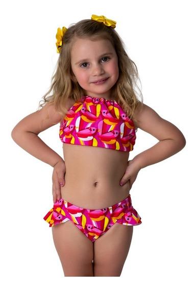 Kit10 Biquíni Infantil Cropped Lycra Frete Gratis Moda Praia