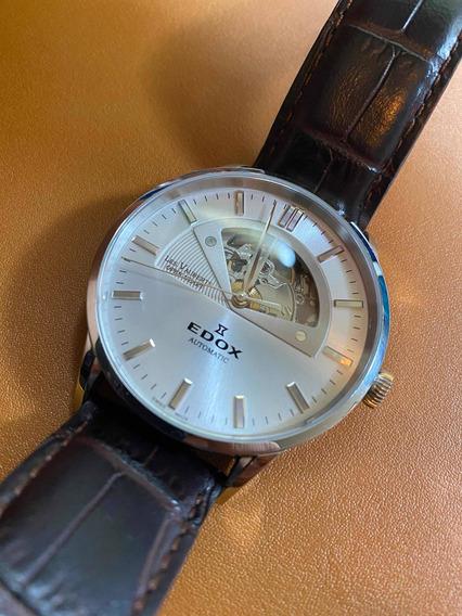 Reloj Original Suizo Edox Les Vauberts 1685 Open Heart