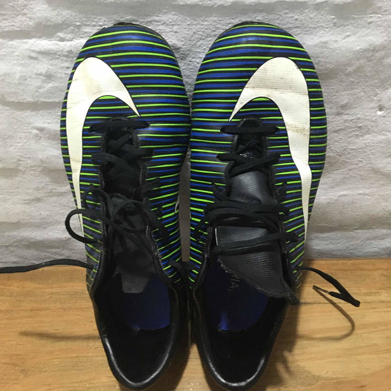 Botines Nike Mercurial Usados Talle 37.5 Con Tapones