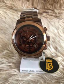 Relógio Oversize Mk8204 Chocolate, Original Com Caixa