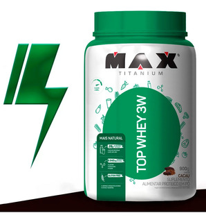 Top Whey 3w 900g - Mais Natural - Max Titanium