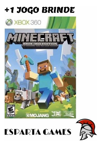 Minecraft Xbox 360 Midia Digital +1 Jogo De Brinde