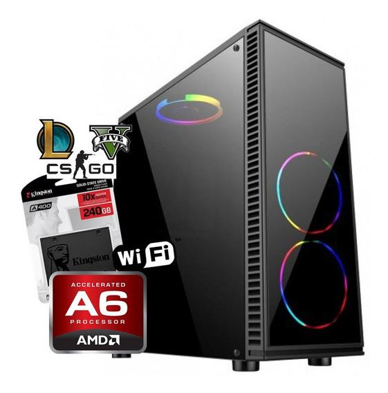 Pc Gamer Barata Amd A6 7480 + 8gb + Ssd 240gb + Radeon R5 2g