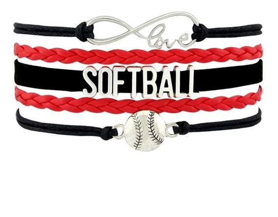 Pulsera Brazalete Love Infinito Softball Baseball Beisbol