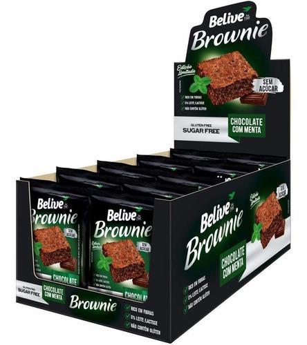 Imagem 1 de 7 de Brownie Belive Chocolate Com Menta Zero 10x40g