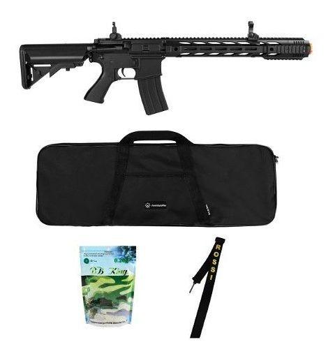 Rifle Elétrico Airsoft Cyma Cm518 Bk M4a1 6mm + Acessórios