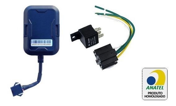 Rastreador E3 Anatel Ideal Para Motos + Chip M2m 5 Em 1 20mb