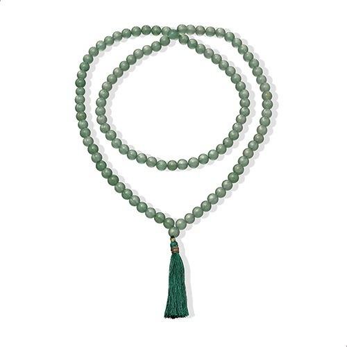 Colar Japamala Jade Malasia Natural, 80 Cm. India - 61913277