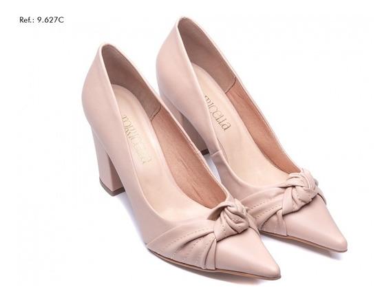 Sapato Scarpin Feminino Salto Grosso Luxo Pronta Entrega