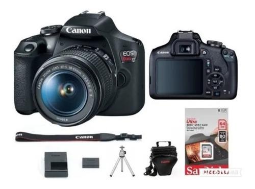 Câmera Canon Rebel Eos T7 C/18-55mm + 64g+bolsa+tripé