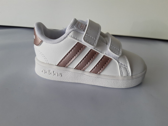 Tênis Infantil adidas Grand Court 1 Bebê Branco/bronze 10733