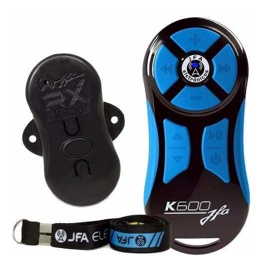 Controle Remoto Longa Distancia Jfa K600 Preto Azul