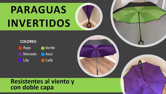 Paraguas Invertidos, Resistentes Al Viento. Diversos Colores