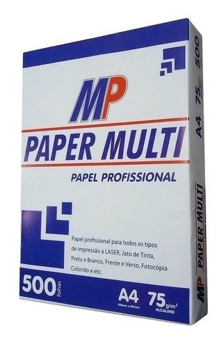 Pacote De Sulfite 500 Folhas Paper Multi Com 5 Pacotes