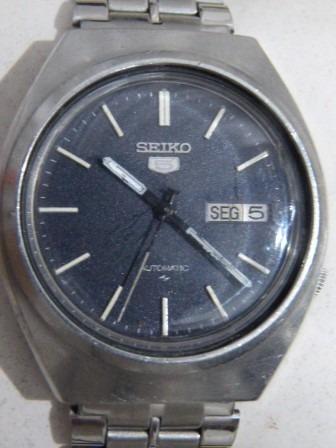 1 Relógio .seiko Aut. Masc. Mod. 7009-843a Caixa 37 X 43 Mm