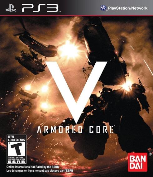 Armored Core V Ps3 - Leia Descrição