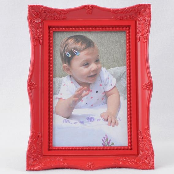 Porta Retrato Plástico 10x15 Moldura Retrô