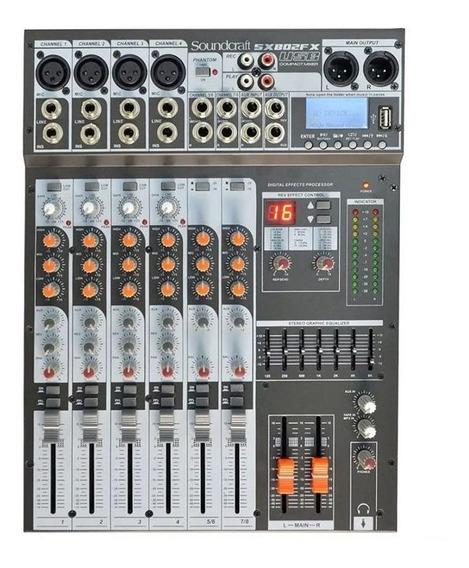 Mesa De Som Herman Sx802fx 8 Canais Usb Soundcraft