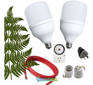 Lampara Kit Cultivo Indoor Luces Led 80w Grow = Sodio 250w