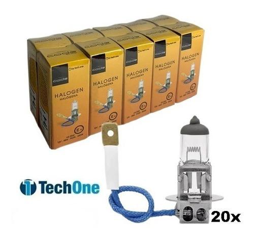 Imagem 1 de 1 de Kit 20 Lampadas Halogena H3 4300k 12v 55w Techone Code