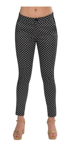 Pantalon Dama Ajustados Leggins Estampados Moda Negro W84101