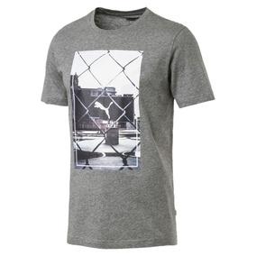 Camiseta Puma Photoprint Masculina - Cinza 854081-03