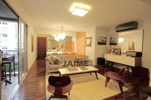 Apartamento Com 115 M, 3 Dormitórios, 2 Vagas E Com Lazer. Totalmente Mobiliado!! - Bi4095