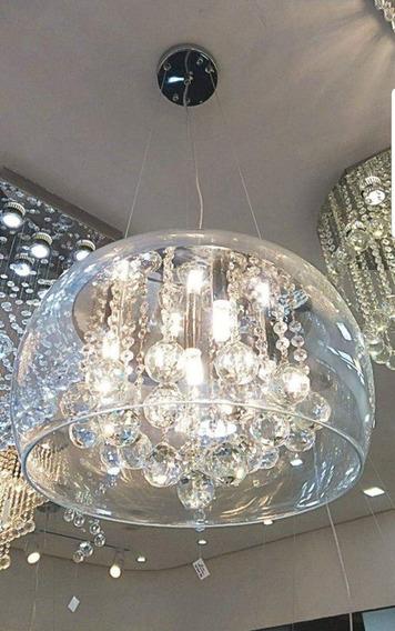 Lustre Cristal Pendente Vidro Transparente 28cm D7306-3