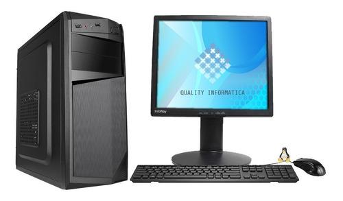 Imagem 1 de 6 de Pc Cpu Nova Intel Core I5 3.2 8gb Hd 500gb Wifi Monitor 17