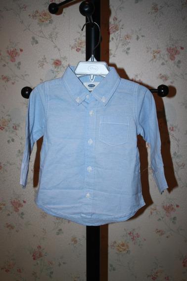 Camisa De Niño 12-18 Meses Azul Claro Old Navy