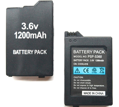 Bateria Recargable Para Psp 3000 2000 3.7v 1200mah Aaa