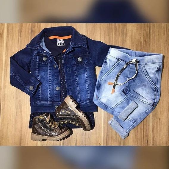 Calça Jeans Cós Moletom